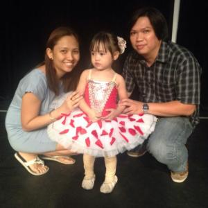 This was taken last December 15, 2013 - Cadi's first ballet recital
